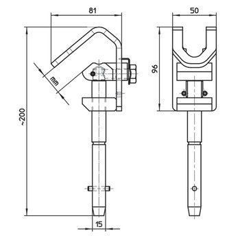 Contact wire hook for earthing rod - Arthur Flury