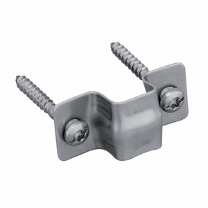 Fastening clip for protective profile